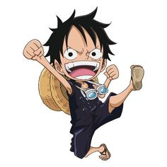 Chibi Luffy - One Piece One Piece Luffy, One Piece Anime, Anime One, Vocaloid, One Piece Wallpaper Iphone, One Peace, Monkey D Luffy, Character Illustration, Chibi