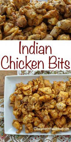 Incredibly flavorful and juicy Indian Chicken Bites are a perfect dinner for the busiest of weeknights. Bite-size pieces of chicken are tossed in a mixture of oil and spices before being quickly cooked in a Turkey Recipes, Dinner Recipes, Chicken Recipes Dairy Free, Rice Recipes, Recipies, Comida India, Fried Fish Recipes, Chicken Bites, India Food