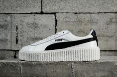 12fc938ed2b77c Officiel Puma Suede Creepers Womens Rihanna 2018 Spring Summer Sneakers  364462-01 White blanc Youth