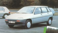 OG | 1990 Renault Clio MK1 - Project X57 | Giugaro / Ital Design second design proposal. This mock-up will be reused for the Fiat Punto
