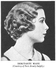 close riding finger wave front with tighter curls pressed to head in back