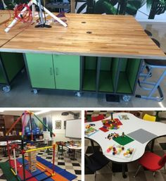 Great furniture ideas for Makerspaces.