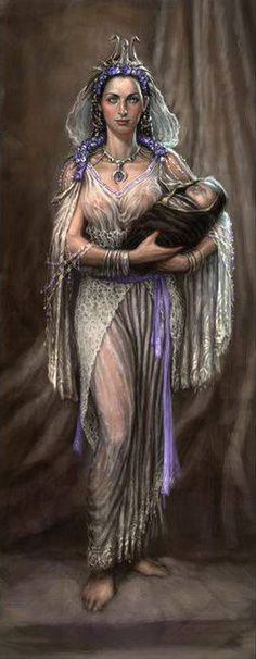 Rhea - queen of the titans once her husband Cronos had taken over and mother to the Olympian gods, who cronos ate at birth to stop them over throwing him