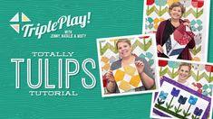 Triple Play: 3 New Tulip Projects with Jenny, Natalie & Misty of Missouri Star (Video Tutorial) – Sabrina Reinhardt Msqc Tutorials, Quilting Tutorials, Quilting Projects, Quilting Ideas, Jenny Doan Tutorials, Missouri Star Quilt Tutorials, Flying Geese Quilt, Quilting Classes, Star Quilts