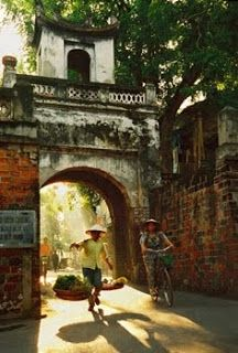 Thousand year-old Quan Chuong city gate in Hanoi's Old Quarter near Hoan Kiem Lake.