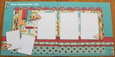 Two page scrapbook layout free to be me summer fun CTMH Cricut #scraptabulousdesigns #ctmh #cricut