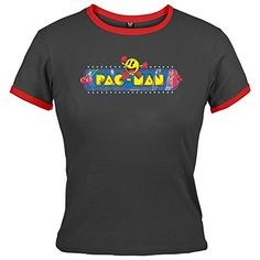 6ac58558 Big choice of Pacman video arcade game character T-shirts for men and  women. Plus, other Pac-Man retro clothing and gifts