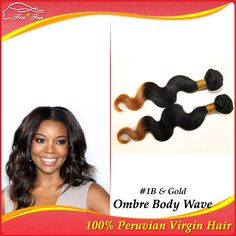 Unprocessed Peruvian Virgin hair Body Wave Ombre Human Hair Extensions queen hair pruducts 12-30inch 2pcs 100g two tone color $40.50 - 112.50