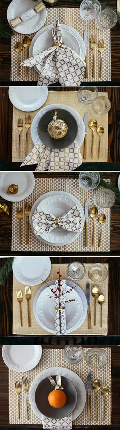 Christmas and New Year Table Setting Ideas , 25 Ideas to Help Set Your Holiday Tables , Christmas Table Settings, Christmas Tablescapes, Holiday Tables, Christmas Decorations, Holiday Decor, Christmas Candles, Holiday Dinner, New Year Table, Dining Etiquette