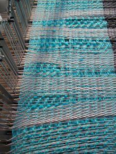 RailReed - adjust warp density while you weave Loom Weaving, Fiber Art, Weave, Textiles, Wool, Modern, Cotton, Crafts, Weaving