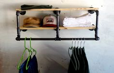 34 inch industrial Clothing Rack and Double by CoronaConceptsCo