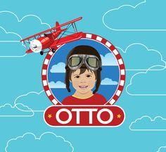 Retrato Ilustrado Personalizado para Festa Infantil: Festa Aviador
