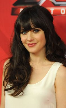 Makes me want dark hair and bangs. In the winter for sure!