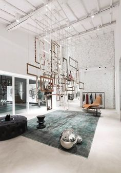 e l l e Fashion Store – Italy...............^_^ I would love the Center peace as something to separate maybe the living room from the kitchen just an idea like that