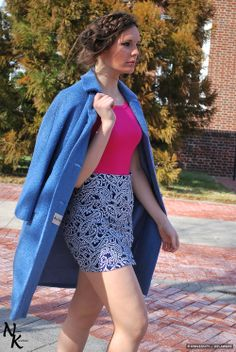 Erin makes a statement on the way to class in this outfit from Clothes in the Past Lane, styled by @UDress Magazine  Magazine.