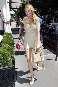 Blake Lively Carrying Lady Dior Bag Celebrity Street Style Gossip Outfits