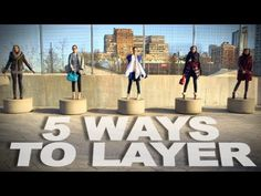 5 Ways to Layer Clothes | Winter Fashion | Fashion Lookbook This is such a cute video. The vest part would really work with our wool vest!