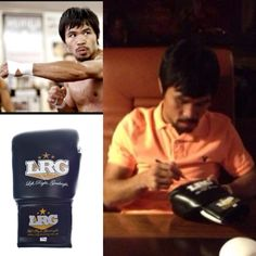 Manny Pacquiao with LRG boxing gloves, such good quality, my husband loves these!