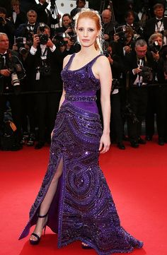 """One word: Wow. #JessicaChastain does ethereal and regal at the same time at the """"All Is Lost"""" premiere at #Cannes."""