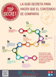 La guía secreta para hacer que el contenido se comparta [Infografía] #MarketingDigital http://www.eficaciaempresarial.es/la-guia-secreta-para-hacer-que-el-contenido-se-comparta/