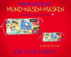 Bei UNDIS www.undis.eu gibt es jetzt auch MUND-NASEN-MASKEN im Partnerlook für Erwachsene und Kinder. Je Stück CHF 6,00 / € 6,00 (Versandkosten sind im Preis inkludiert) #undis #maskeauf #behelfsmaske #mundnasenmaske #mundmaske #gesichtsmaske #nähen #kreativ #bunt #maske #corona #virus #maske #mundnasenschutz #deutschland #schweiz #österreich #maske #kinder #eltern #diy #partnerlook #bunt #gesundheit #mundnasemaske Monopoly, Blog, Corona, Funny Mouth, Kids, Men's Boxers, Amazing Gifts, Masks, Parents