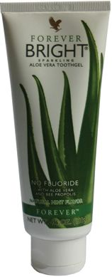 Forever Bright toothgel- A gentle, non-fluoride formula, that contains Aloe Vera and Bee Propolis.