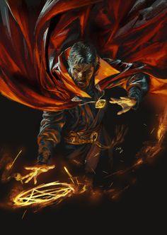 Doctor Strange by Jong Hwan (x-post /r/ImaginaryMarvel) : Marvel Marvel Dc Comics, Marvel Heroes, Marvel Avengers, Doctor Strange Comic, Dr Strange, Strange Magic, Strange Things, Marvel Comic Character, Marvel Characters