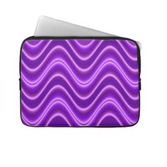 "Bright purple wave pattern 13"" laptop sleeve"