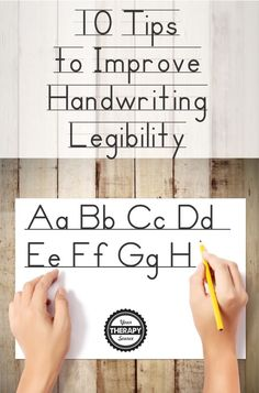 10 Tips for Improving Handwriting Legibility - Your Therapy Source Improve Handwriting, Therapy, Tips, Counseling