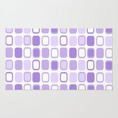 #Lilac #Squares Area & Throw #Rug