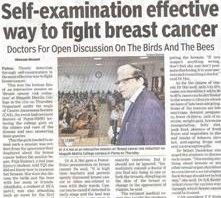 Self-Examination Effective Way To Fight Breast Cancer.
