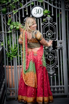 $135.00 South Indian Gopi Skirt Outfit – Red Earth