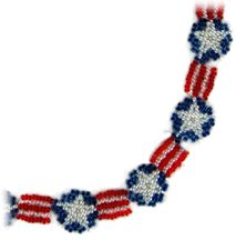Stars and Stripes Necklace/Bracelet Beading Pattern by Sandra D. Halpenny at Bead-Patterns.com
