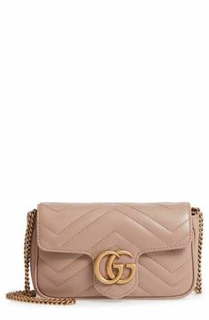 b8c91be6acf Gucci Supermini GG Marmont 2.0 Matelassé Leather Shoulder Bag Gucci  Marmont