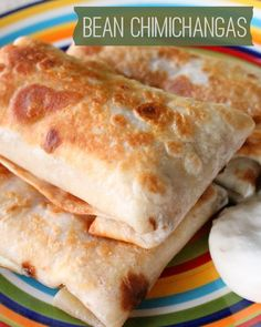 Bean Chimichangas recipe , use authentic Mexican tortillas and Mexican cheeses