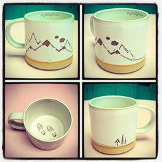 This mug is for those happy hikers of the world! Specifically the Appalachian Trail hikers. Not many folks know but one of the Crazy Cat Ladies is a famous AT thru hiker. This image is made from words from her expensive of 8000 miles on the AT. It's says pain hunger freedom friendship perseverance & more. It features the AT symbol on the back and hiking boot tracks inside the mug. It's perfect for anyone who has ever been brave enough to go take a hike! It's handmade & hand decorated in the…