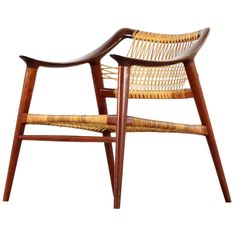 Frederik A. Kayser for Rastad Relling  Chair Produced by Gustav Bahus and EFT   From a unique collection of antique and modern armchairs at https://www.1stdibs.com/furniture/seating/armchairs/