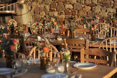 Mykonos Destination wedding - Boho flower decoration Boho Wedding, Destination Wedding, Flower Decorations, Table Decorations, Mykonos, Evil Eye, Table Settings, Flowers, Home Decor