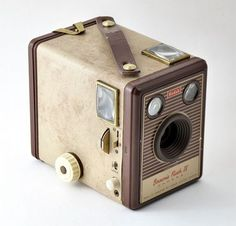 Box Brownie, a gift from my parents when I was 9 or 10. Eight shots per roll, huge 6x9 negatives
