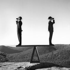 TWO MEN STANDING ON A SEA-SAW NO. 1-Rodney Smith