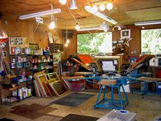 My own complete screen printing studio would be awesome!