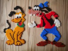 Goofy and Pluto hama perler by Creablog Valerie