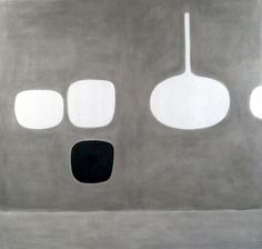 William Scott, Grey Harmony, 1972, Oil on canvas, 167.6 × 172.7 cm / 66 × 68 in, Private collection[?]