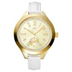7ba188b0f Women's JBW? J6309A Aria Japanese Movement Genuine Leather Real Diamond  Watch - Gold #Aria