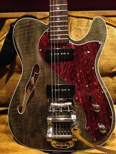 love the details on this Music Guitar, Cool Guitar, Acoustic Guitar, Telecaster Thinline, Gretsch, Music Den, Fender Bender, Cool Electric Guitars, Guitar Building