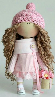 Textile doll Handmade doll Fabric doll Tilda doll Rose doll Soft doll Cloth doll Collectable doll Rag doll Interior doll by Master Olga P Textiles, Soft Dolls, Fabric Dolls, Lana, Baby Dolls, Doll Clothes, Ballerina, Crochet Hats, Crochet Dolls