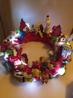 Christmas wreath with toys