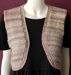 Knitting Pattern Bolero Vest