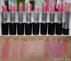 My MAC Lipstick Collection (Swatches) lebeautygirl.com