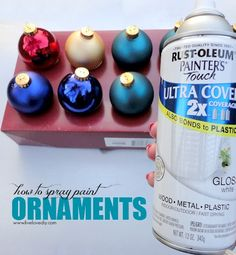 How to Spray Paint Old Christmas Ornaments Any Color You Want! This is great!
